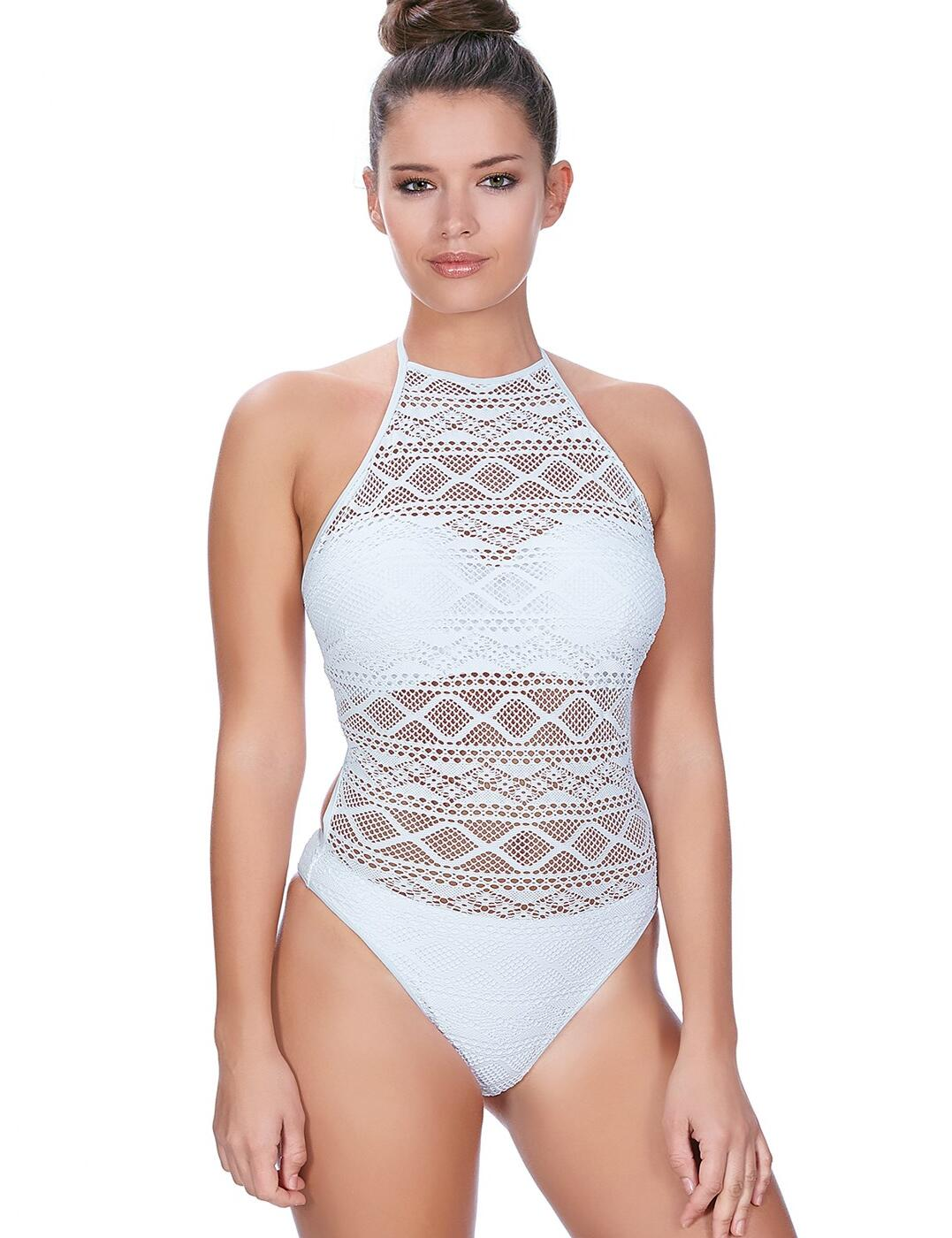 34eb316873e68 Freya Sundance As3974 W Underwired High Neck Swimsuit White (whe) 36 ...