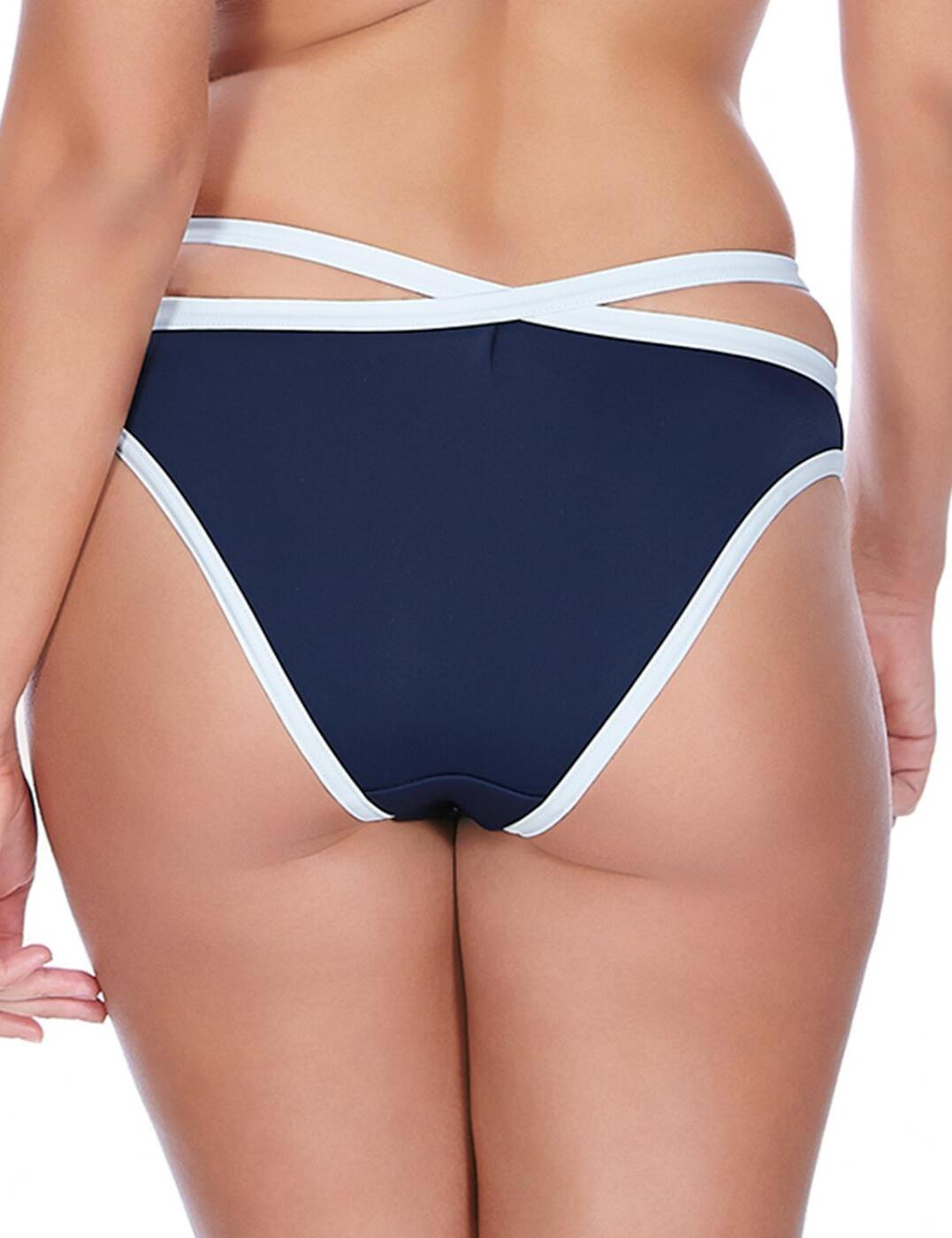 Freya In The Navy Italini Bikini Brief Bottoms 3862 Marine Blue