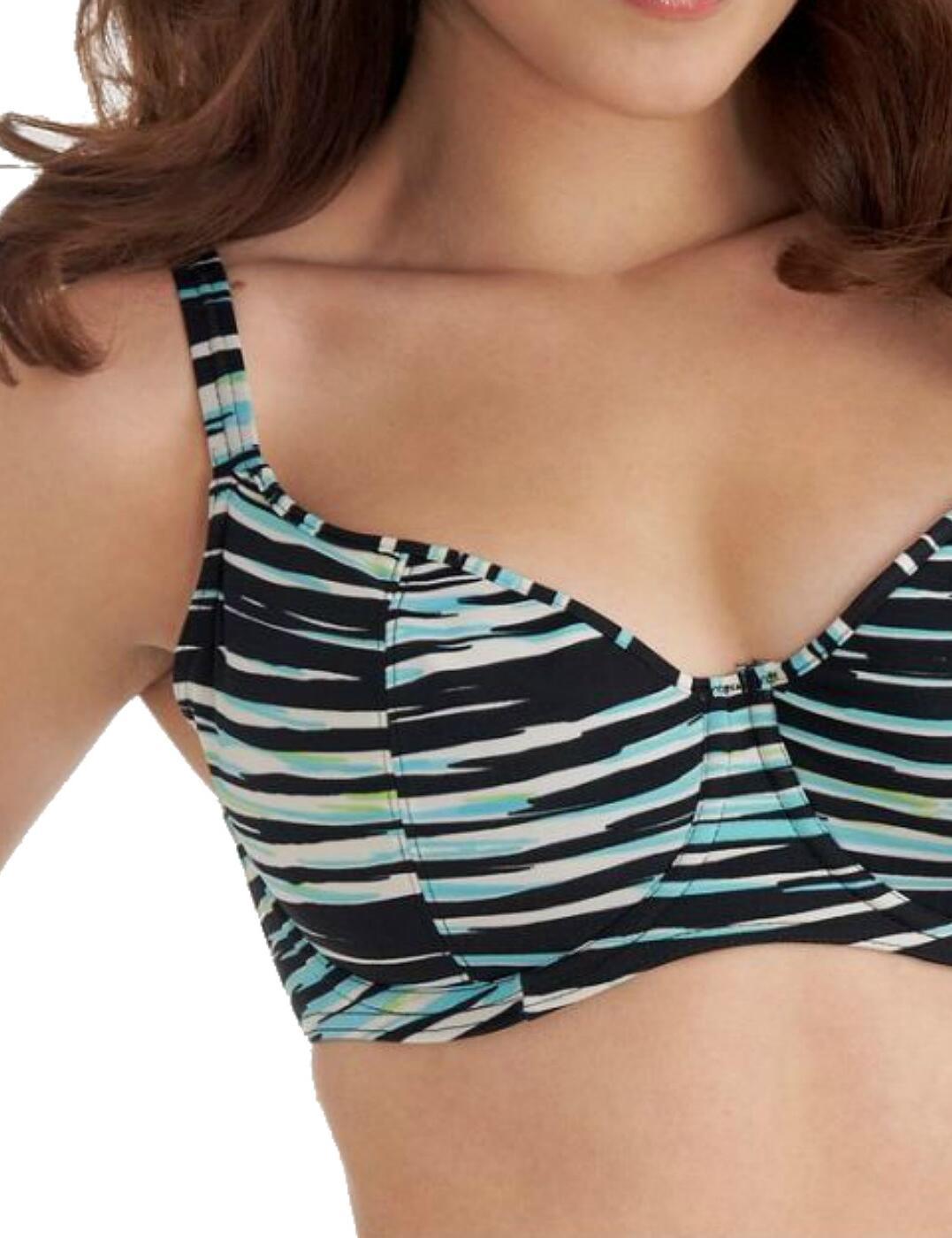 Freya Illusion Underwired Plunge Bikini Top 3128 New Freya Swimwear Black