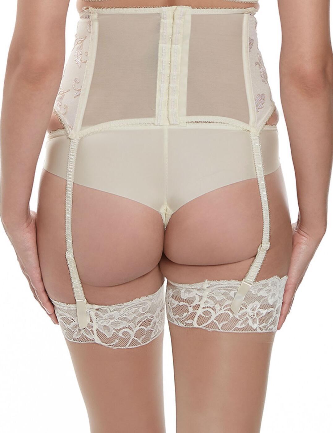 Fantasie Sofia Waspie Deep Suspender Belt 9328 Ivory Luxury Fantasie Lingerie