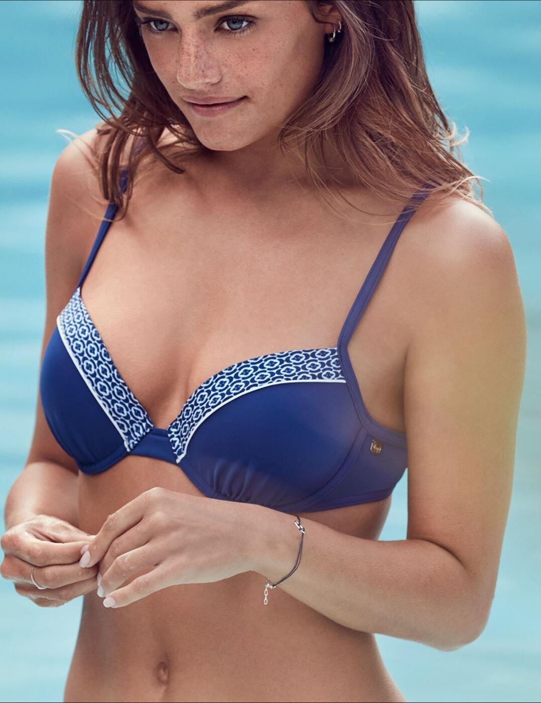 10166373 Sloggi Swim Aqua Essentials Bikini Top Blue - 10166373 Bikini Top