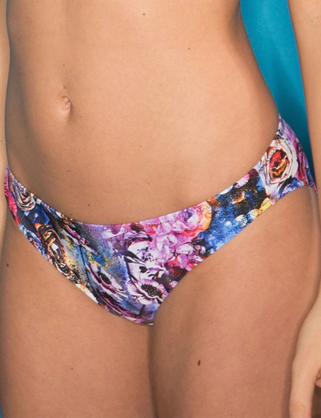 20004 Pour Moi Sicily Bikini Brief Pink Multi - 20004 Pink Multi