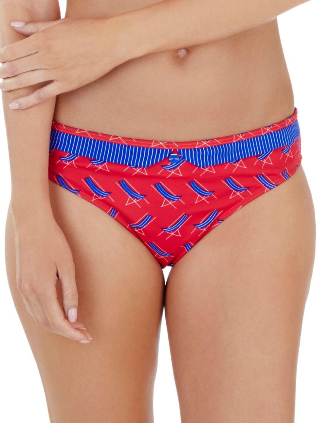 1539700 Lepel Deck Chair Bikini Pant Red/Blue  - 1539700 Brief
