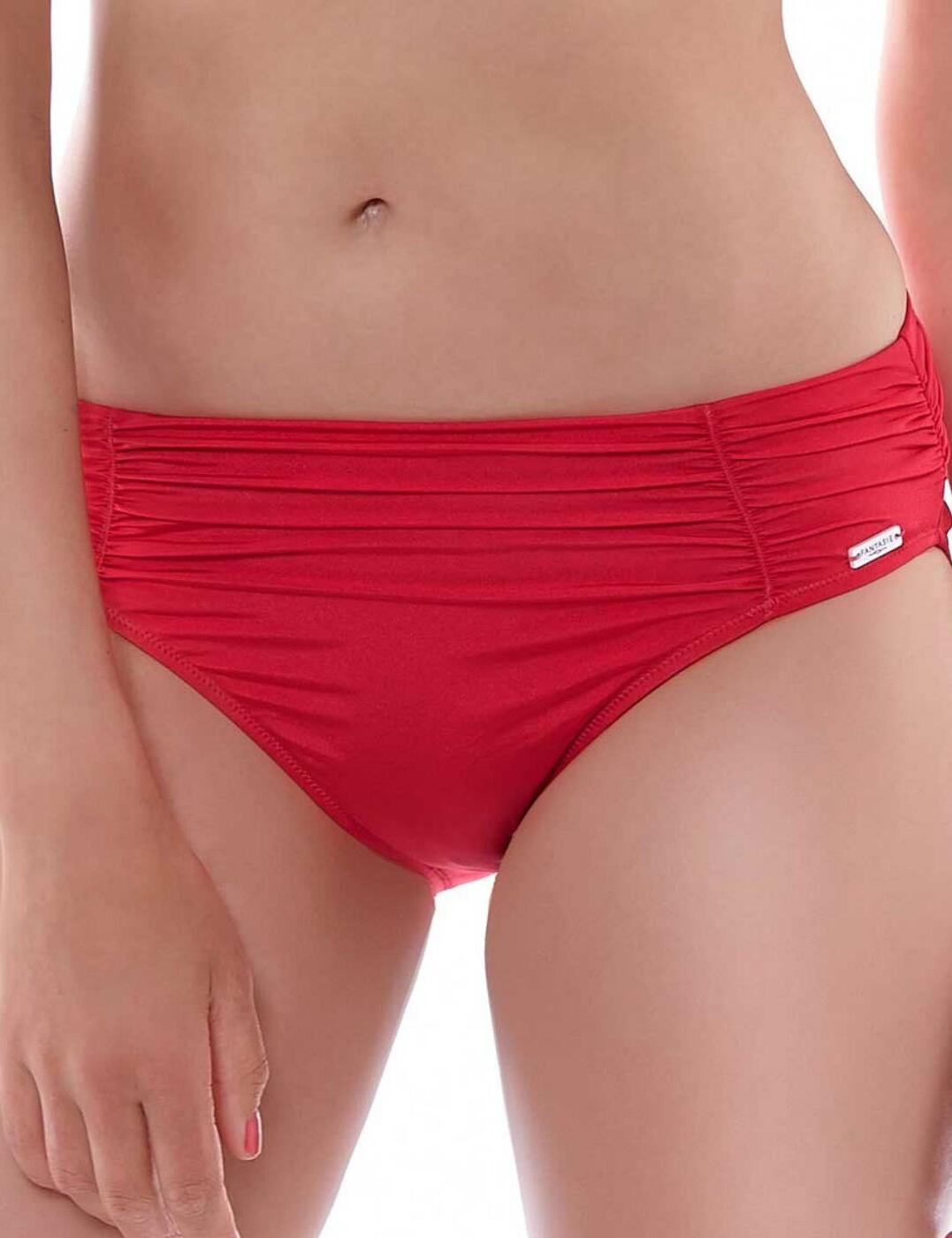 6155 Fantasie Los Cabos Gathered Bikini Brief - 6155 Coral Red