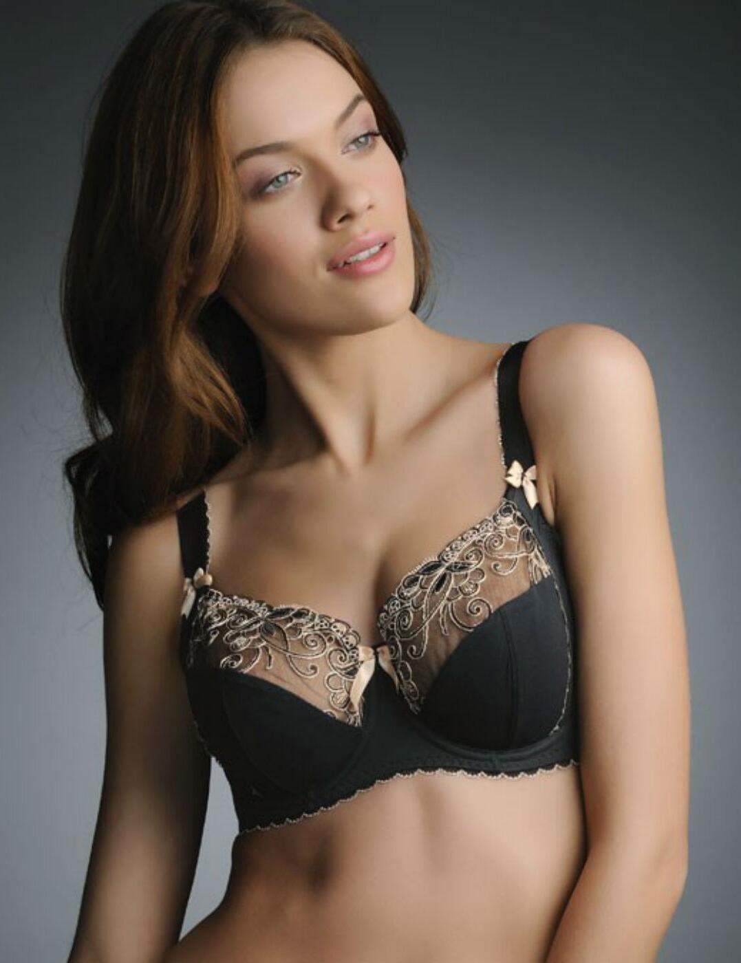 0182 Fauve Isobel Side Support Bra Black Save 50% - 0182 Side Support