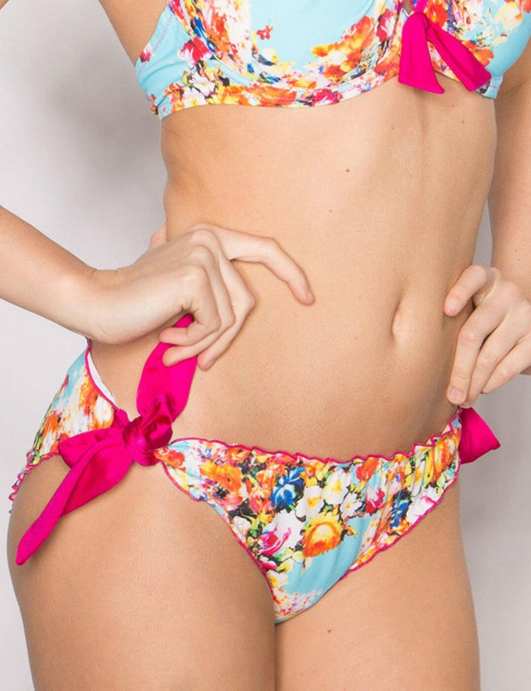 24004 Pour Moi? Seville Tie Side Bikini Brief Multi - 24004 Multi