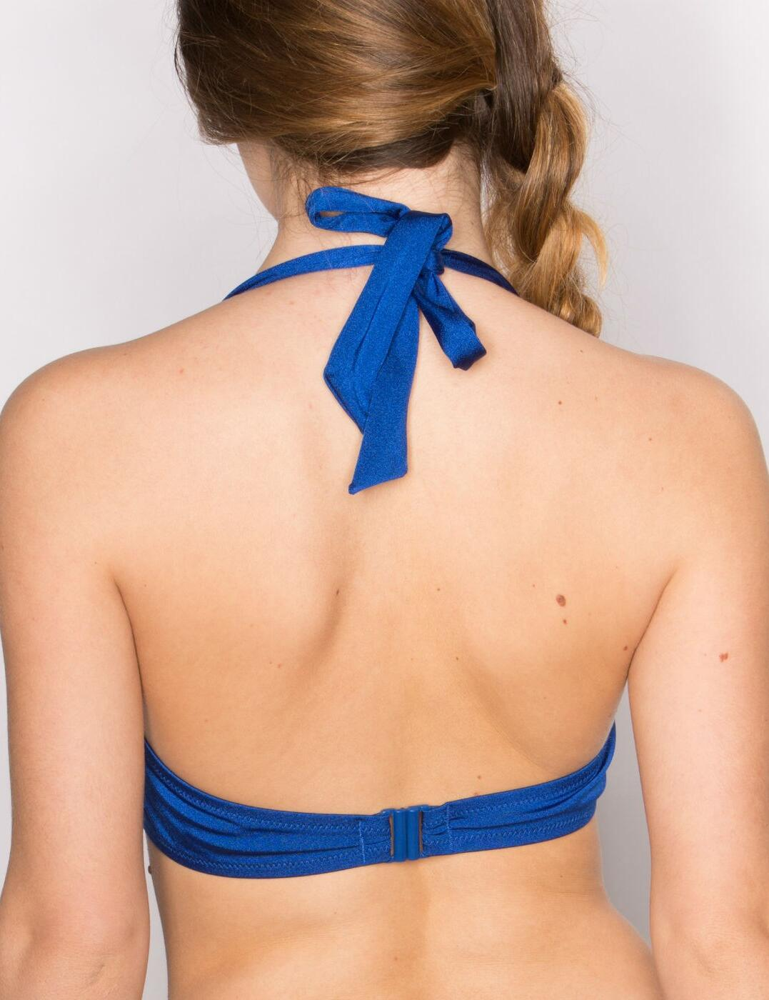27000 Pour Moi? Bahamas Padded Halter Bikini Top  - 27000 Blue/Aqua