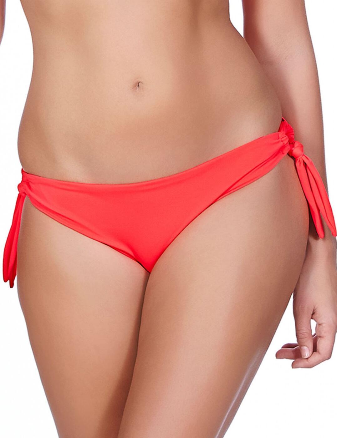 3805 Freya Deco Swim Tie Side Bikini Brief  - 3805 Insanely Red