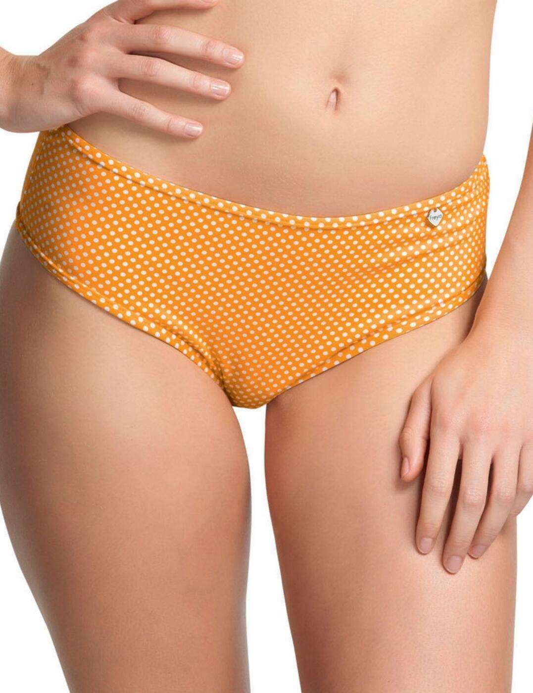 3585 Freya Sunset Boulevard Low Leg Bikini Brief - 3585 Yellow Polka Dot