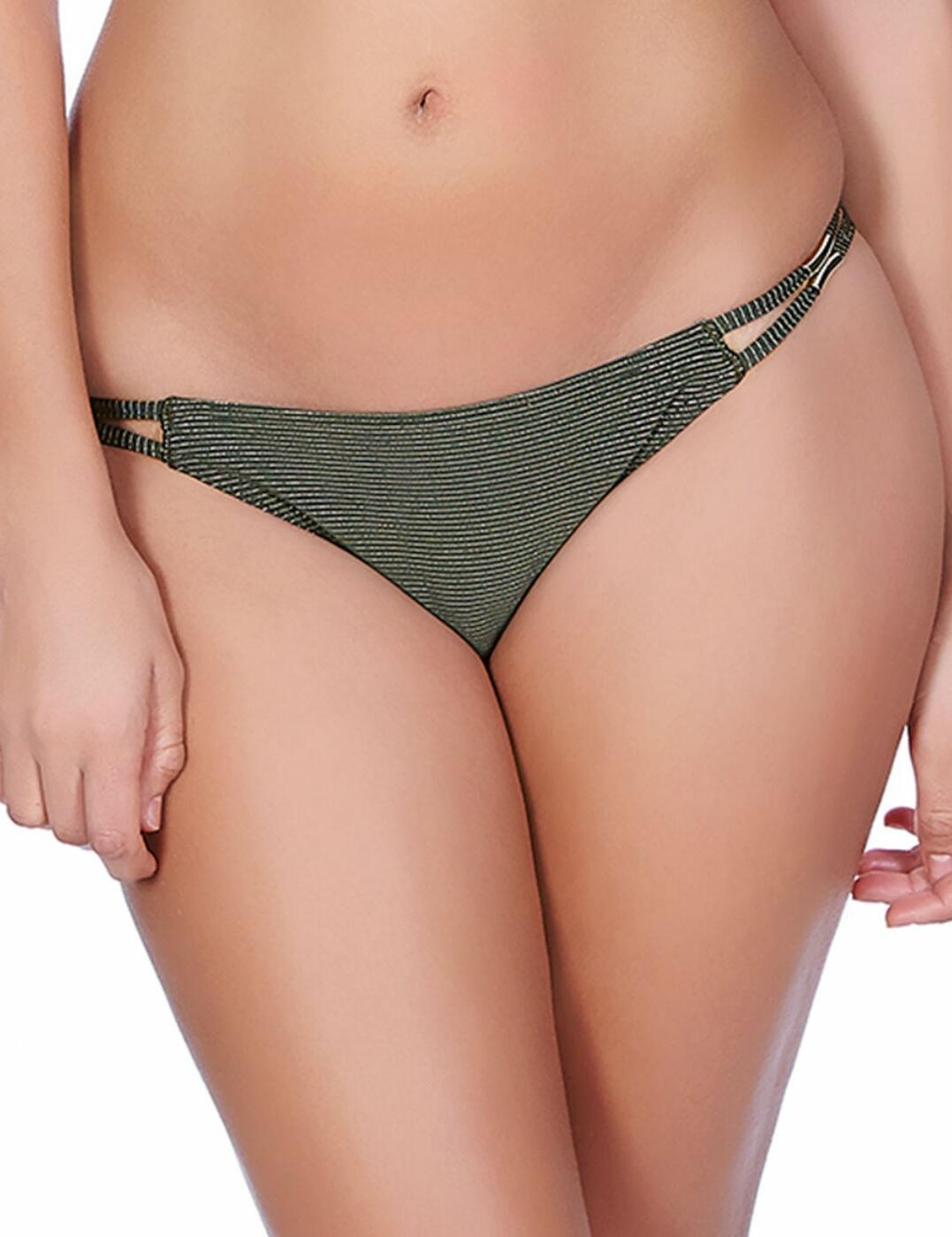 3843 Freya Glam Rock Tanga Bikini Brief Olive - 3843 Olive