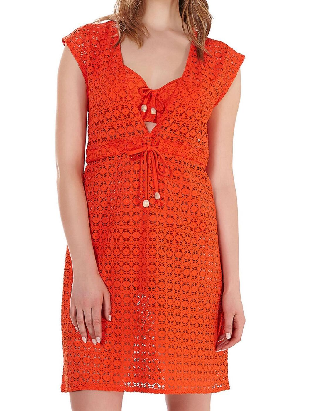 3908 Freya Spirit Beach Tunic Dress - 3908 Flame