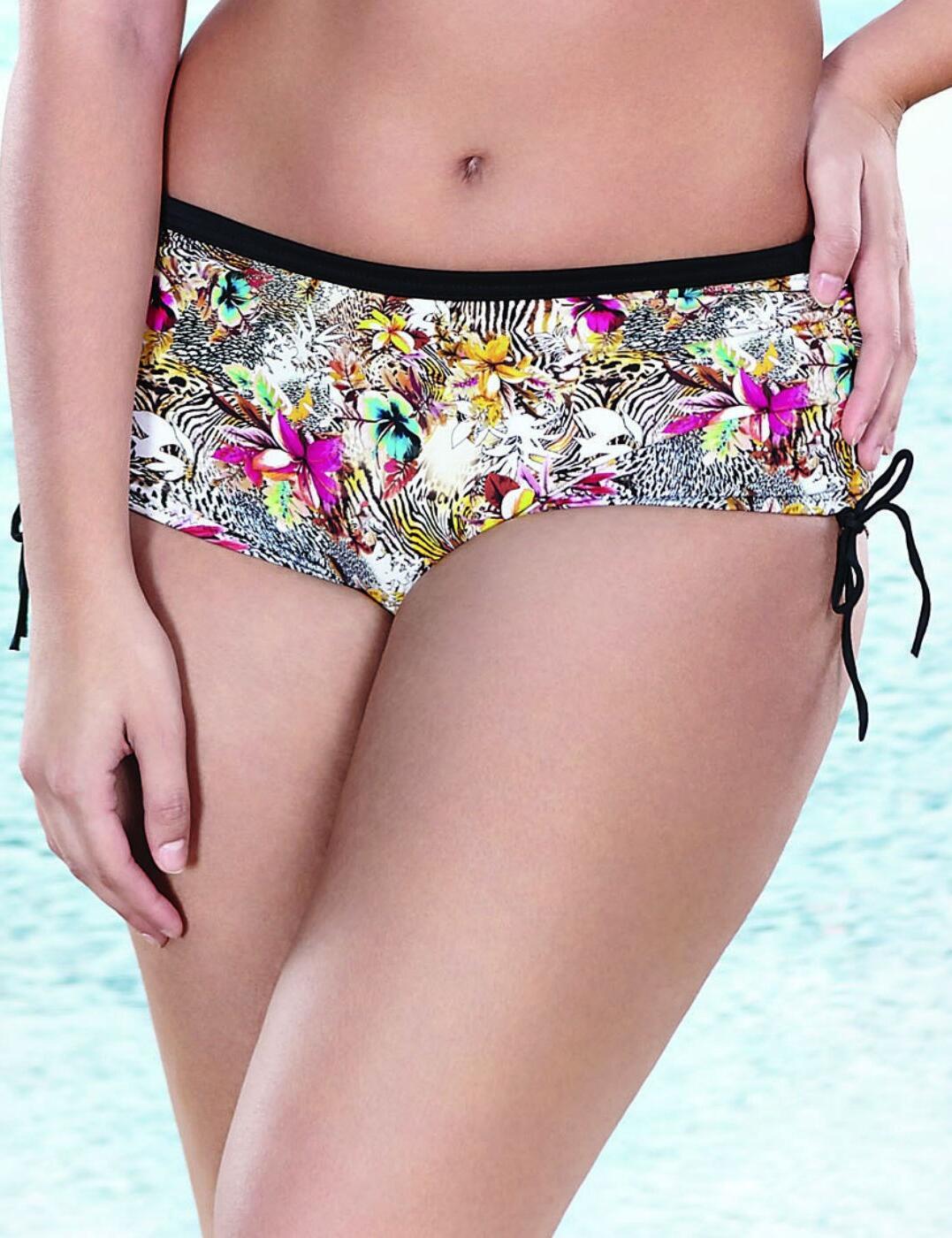 7523 Elomi Fly Free Adjustable Bikini Short Black - 7523 Bikini Short