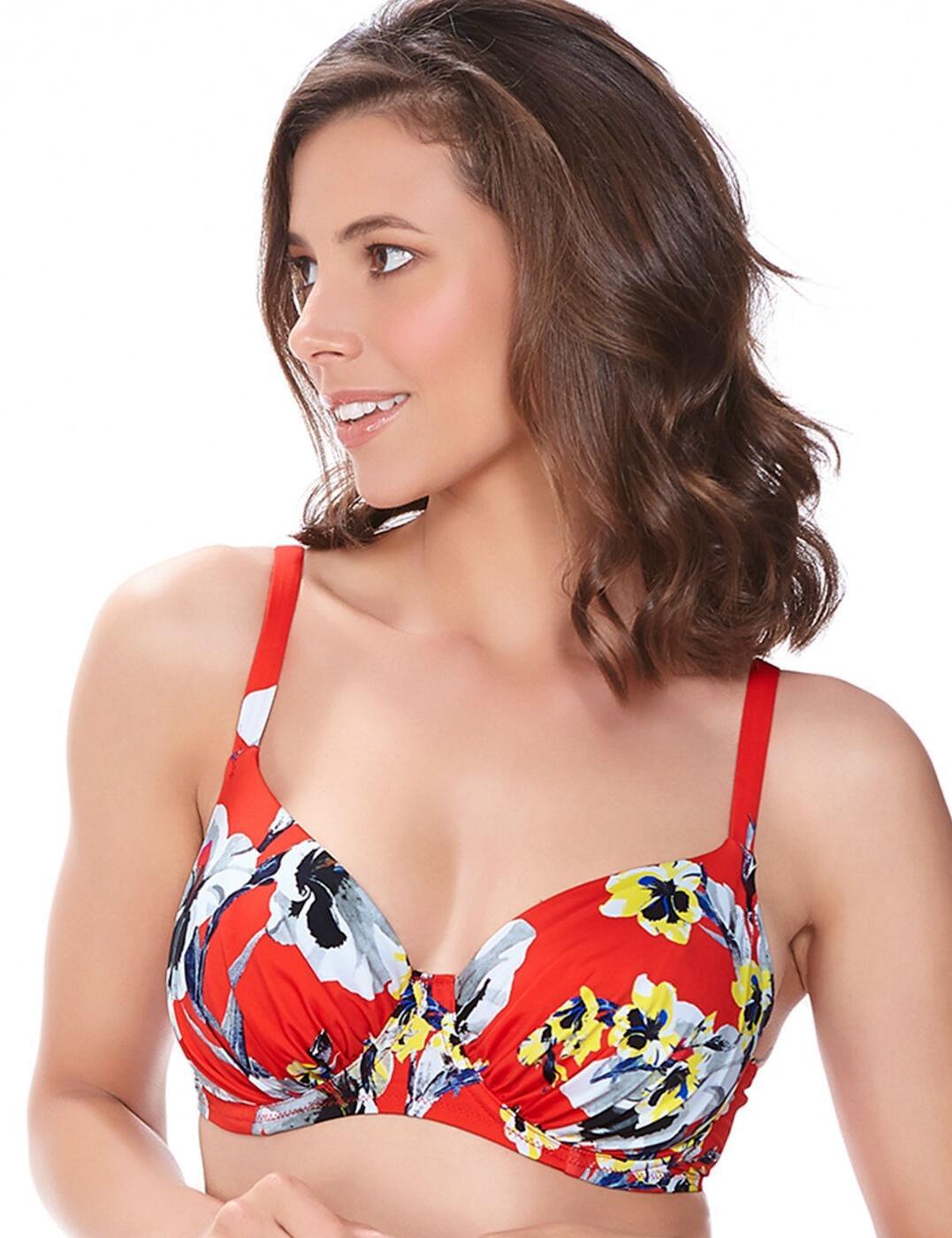 6257 Fantasie Calabria Gathered Full Cup Bikini Top - 6257 Full Cup Bikini Top