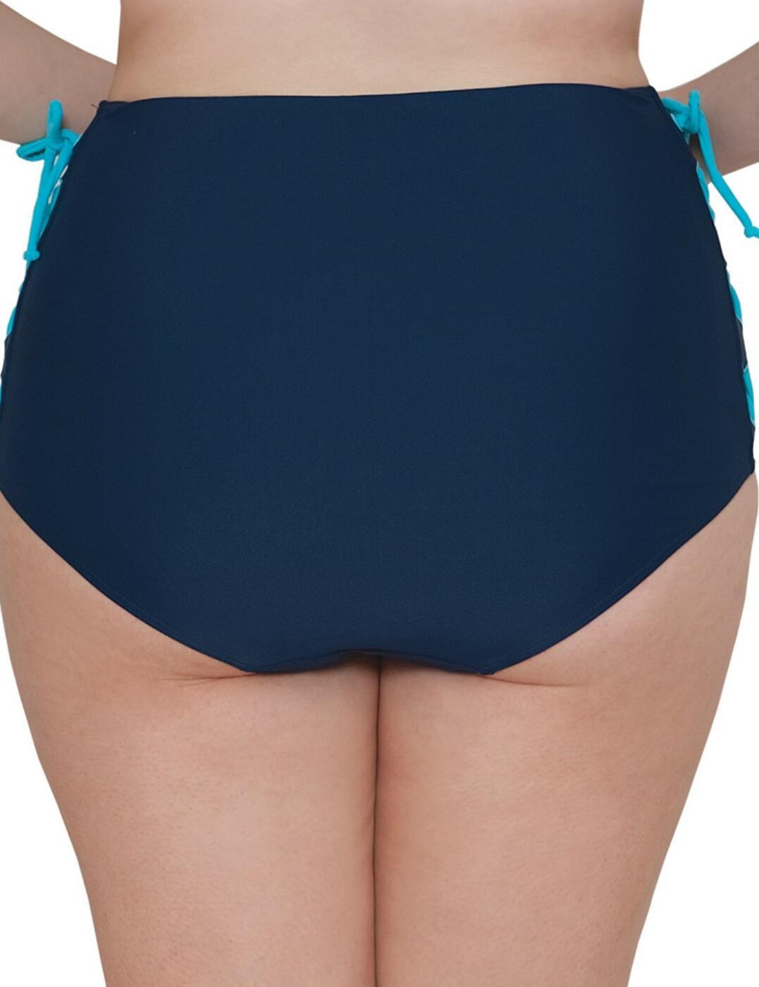 CS4065 Curvy Kate Set Sail High Waist Bikini Brief - CS4065 Indigo Mix