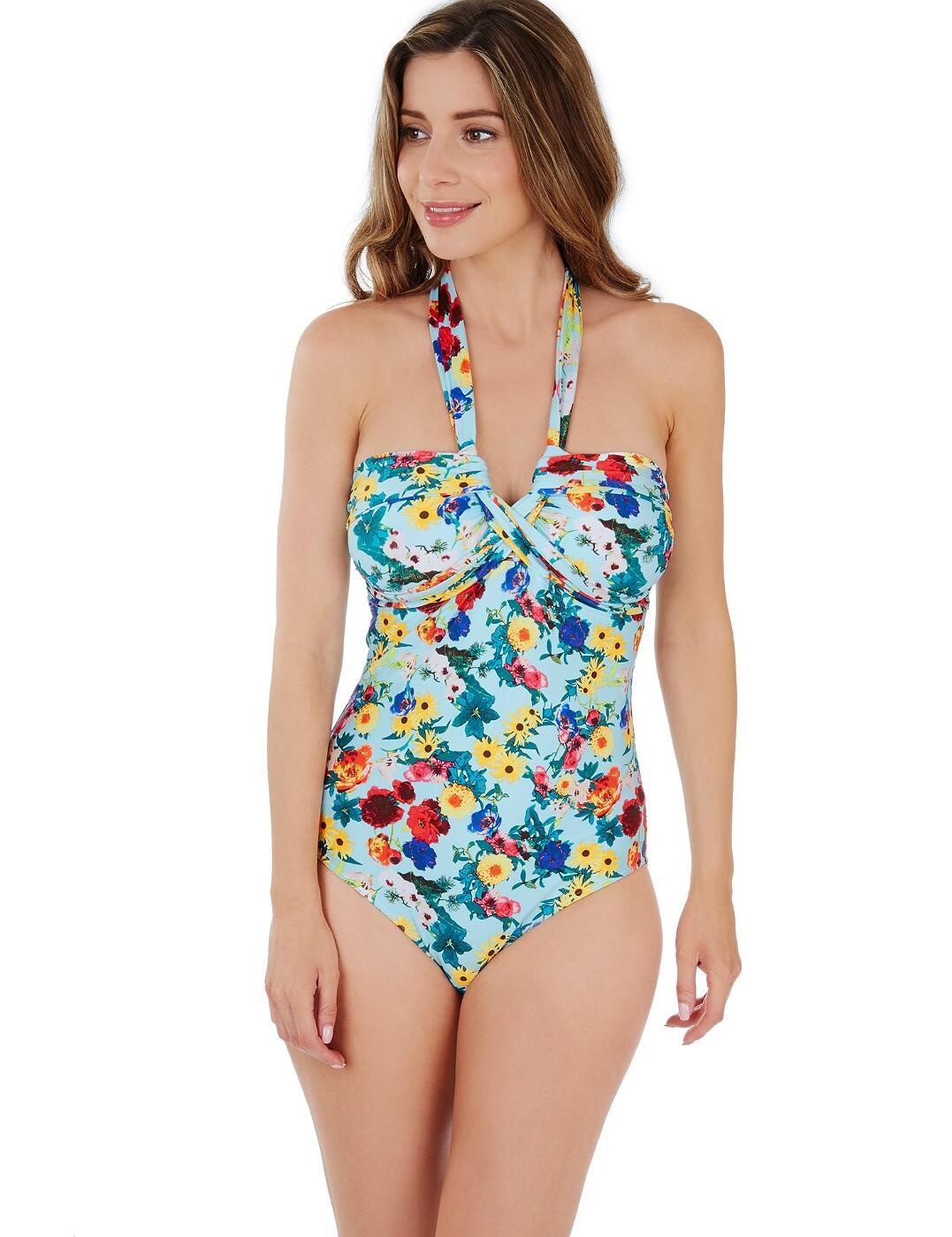 1680830 Lepel Flower Power Bandeau Swimsuit - 1680830 Blue/Multi