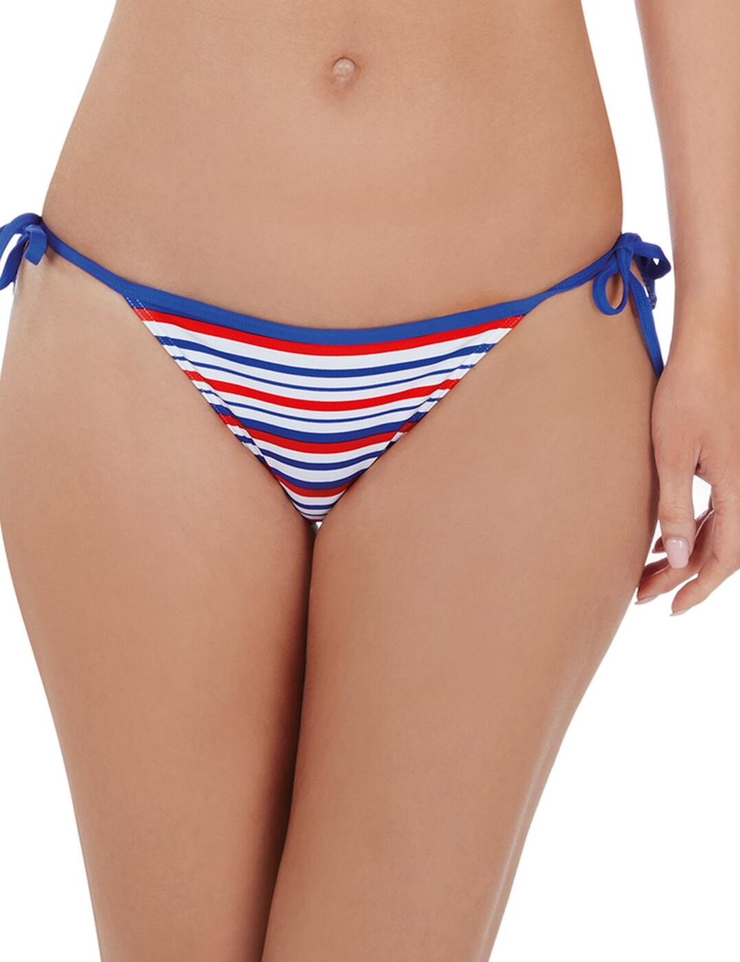 1686720 Lepel Sailor Tie Side Bikini Pant - 1686720 Blue/Red/White