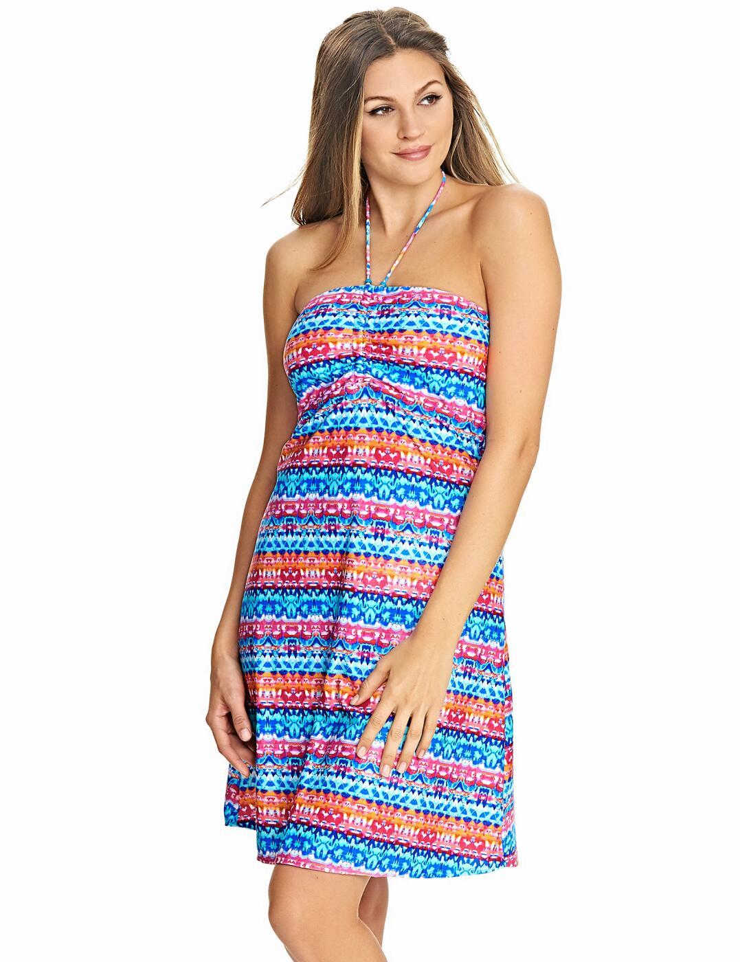 4040 Freya Cuban Crush Beach Dress Tunic Muti - 4040 Multi