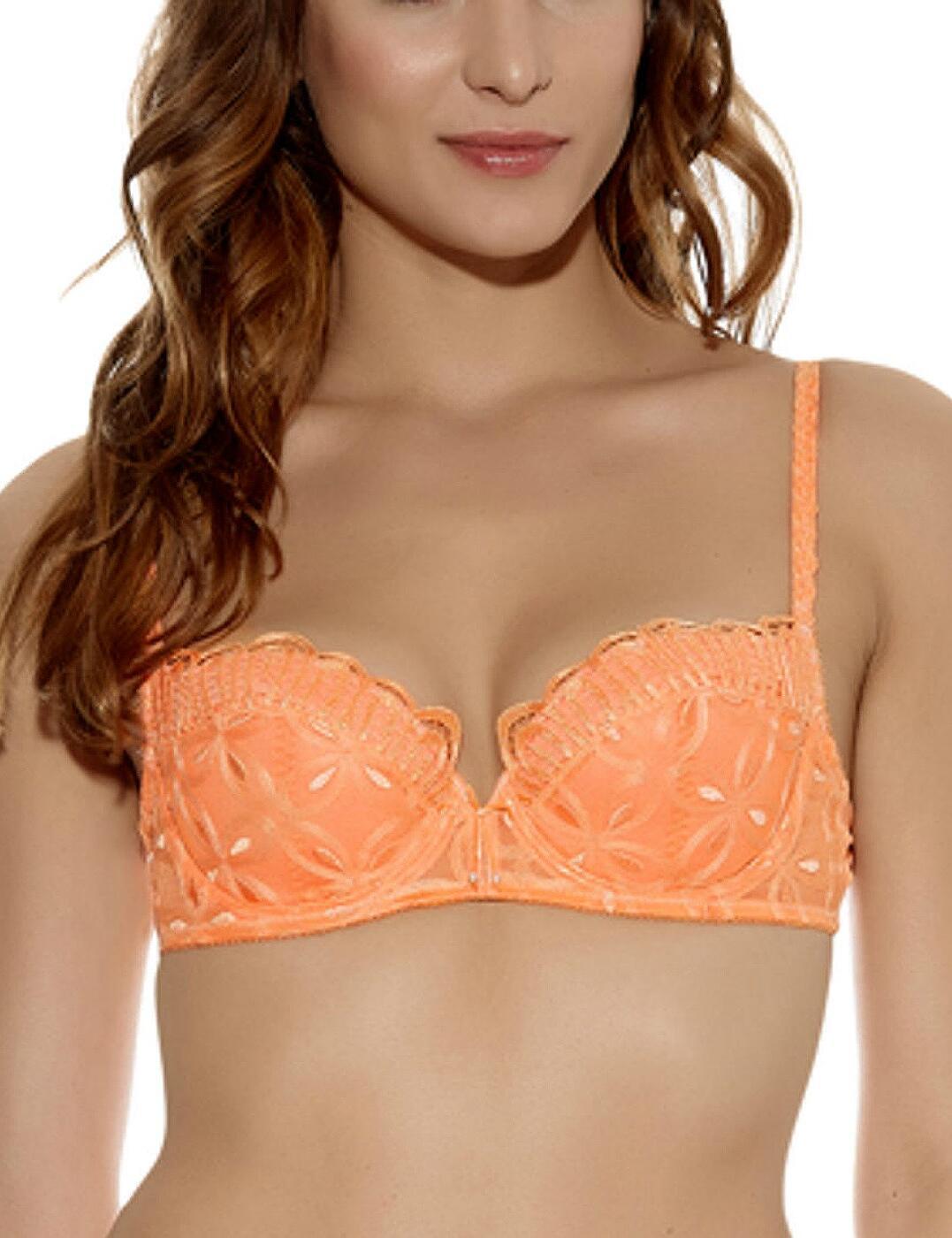 102002 Wacoal Melodie Foam Lined Balcony Bra - 102002 Cantaloupe Orange