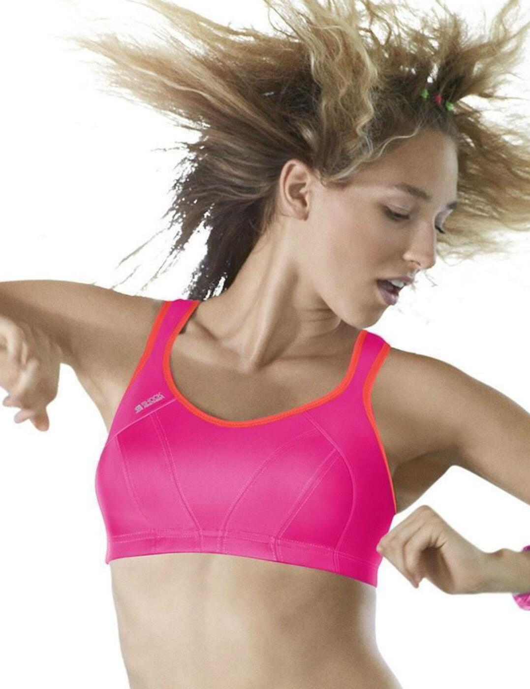 S4490 Shock Absorber High Impact Sports Bra - S4490 Pink/Coral