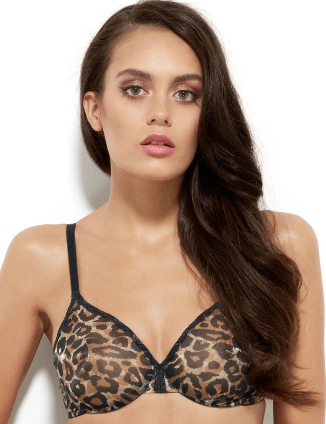 13101 Gossard Glossies Leopard Print Sheer Bra - 13101 Leopard Print
