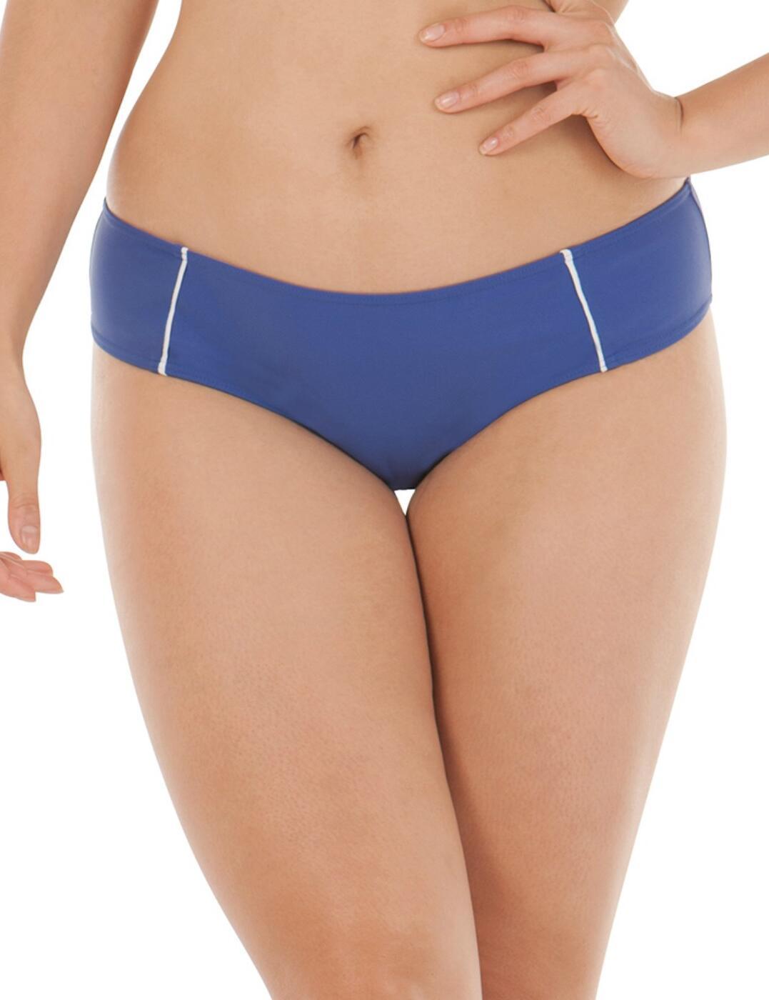 4503 Curvy Kate Sail Away Cheeky Bikini Short - 4503 Blue/White