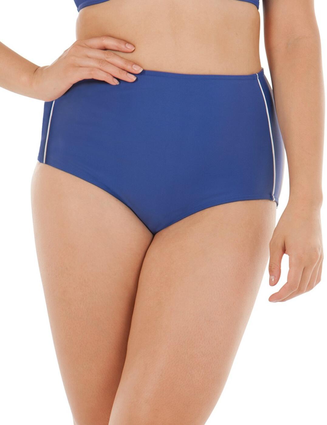 4565 Curvy Kate Sail Away High Waist Bikini Brief - 4565 Blue/White