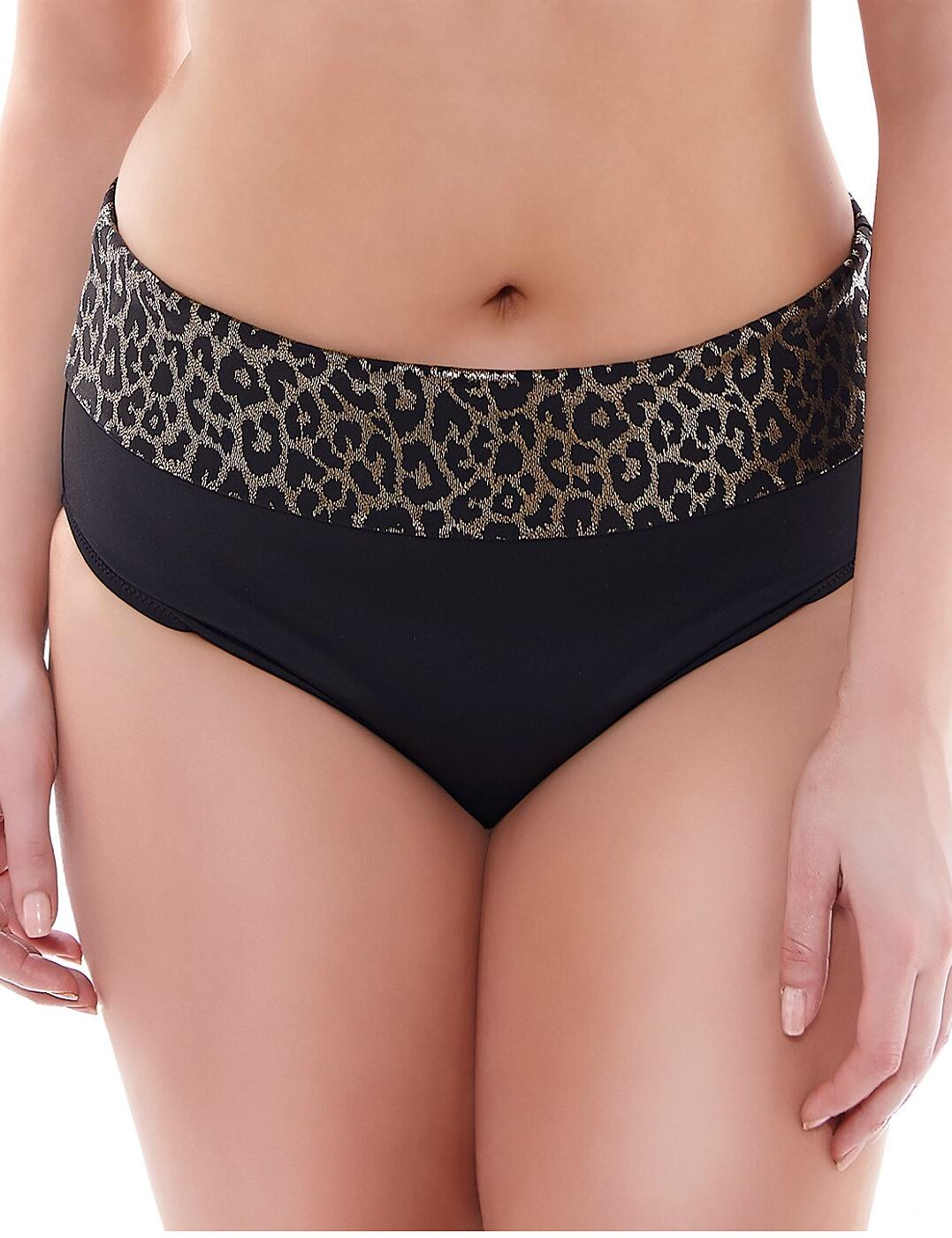 7424 Elomi Wild Thing Fold Bikini Brief - 7424 Black