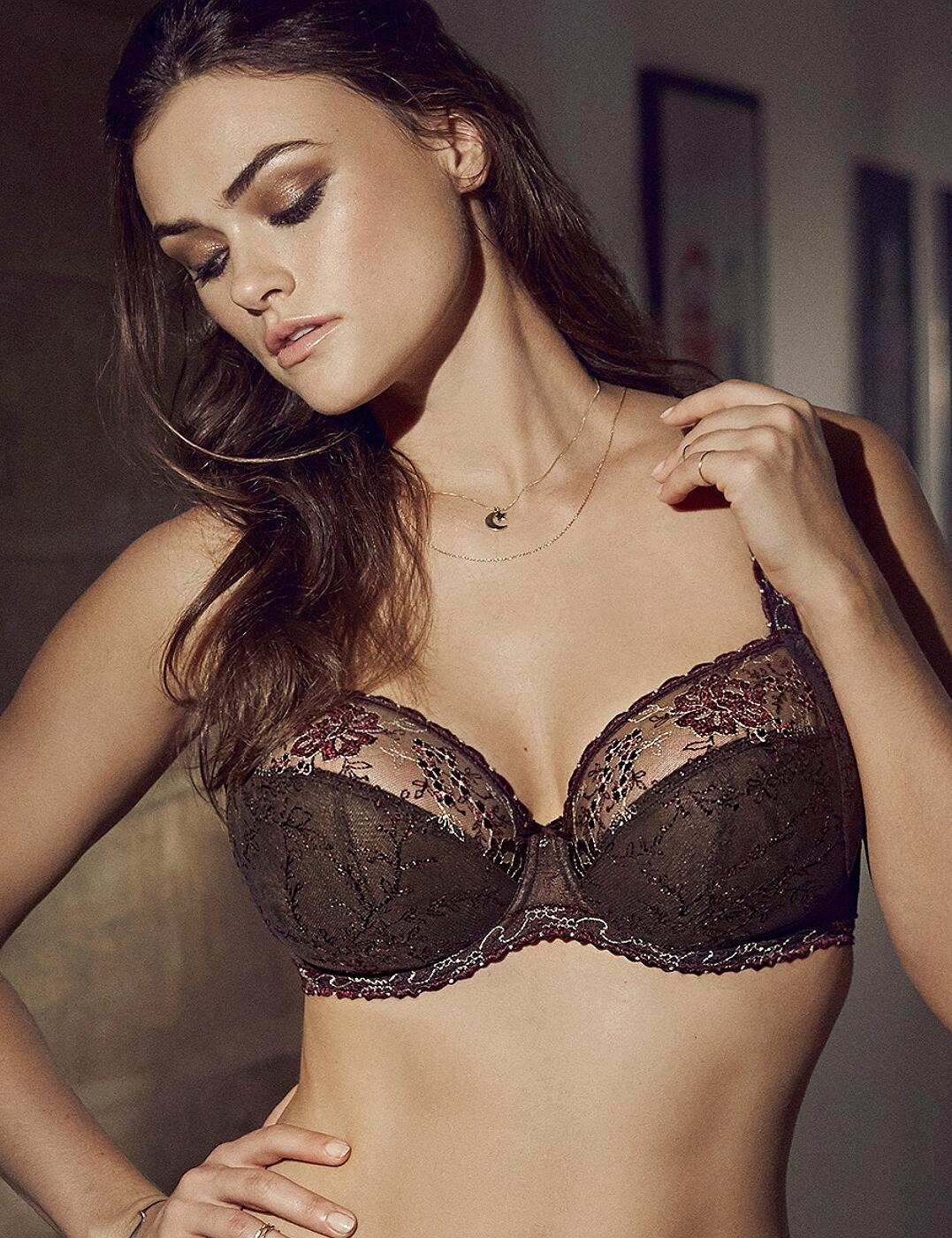 0162880/0162881 Prima Donna Golden Dreams Underwired Full Cup Bra - 0162880/0162881 Wengé