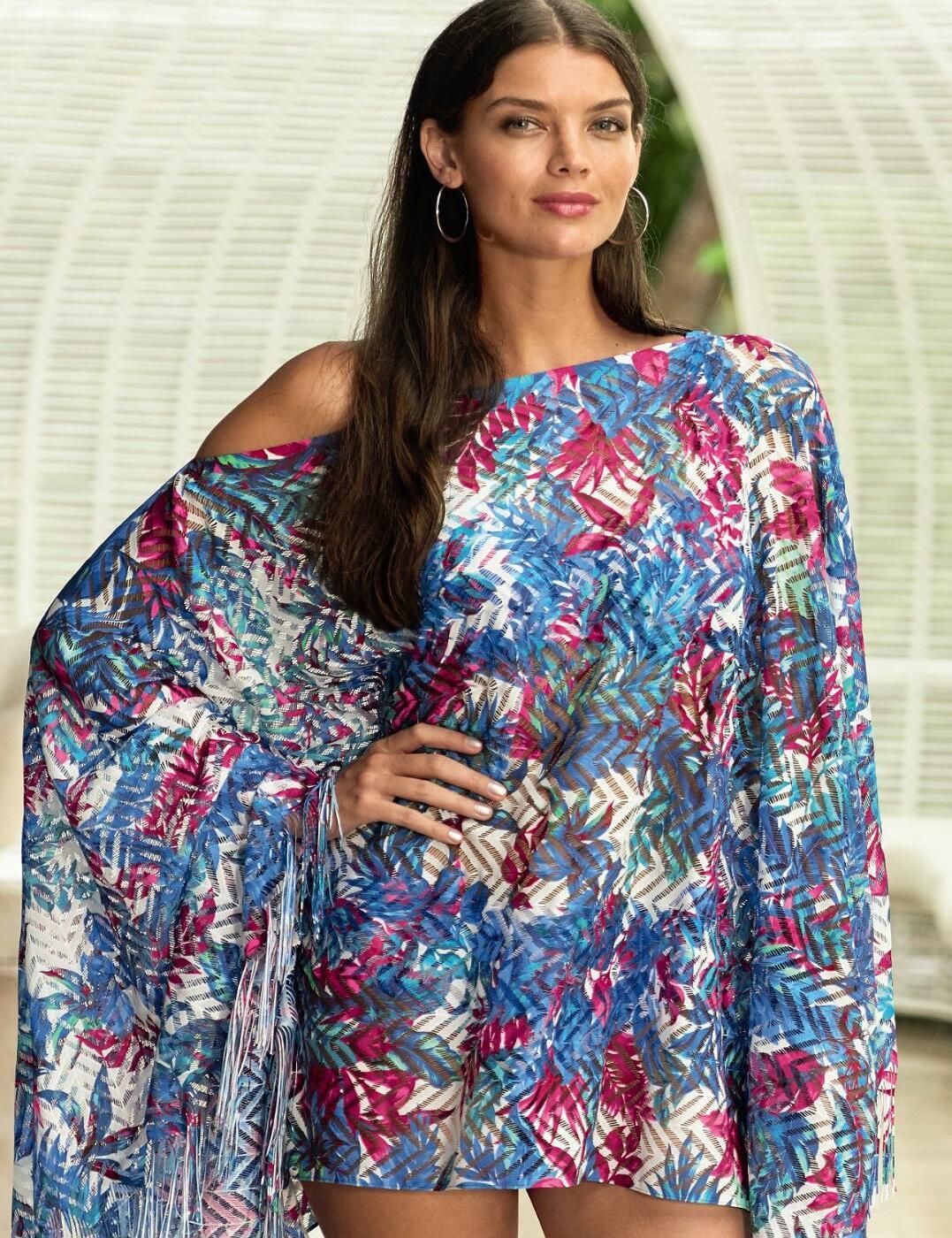 8638 Anita Naila Poncho Beachdress Cover up - 8638 Original (Multi Print)