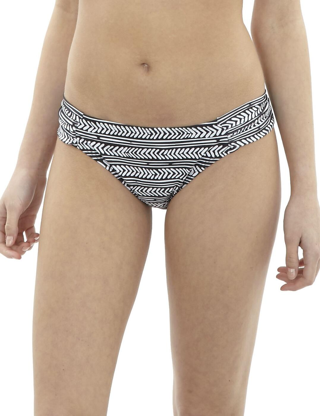CW0266 Cleo Hattie Ruch Bikini Brief - CW0266 Black/White