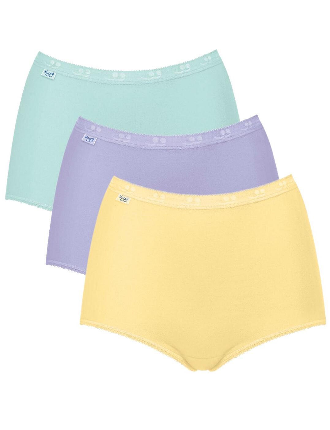 10105593 Sloggi Basic Maxi Brief 3 Pack - 10105593 Yellow/Light Combination (Pastel Colours)