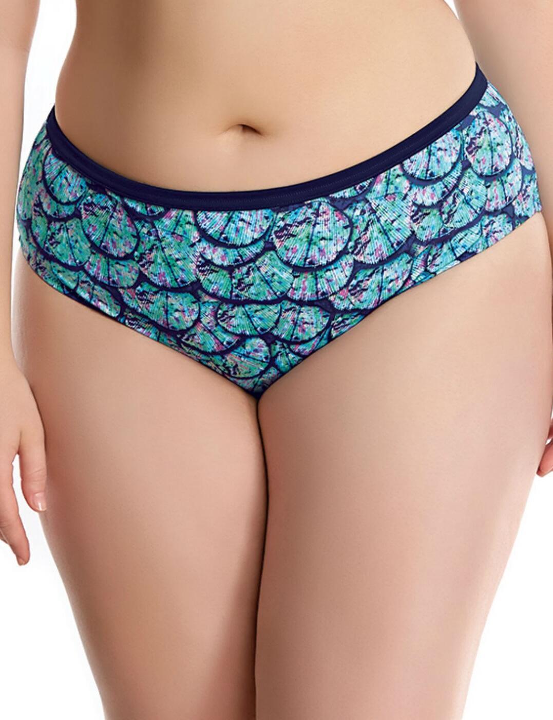 7083 Elomi Abalone Mid Rise Bikini Brief Midnight - 7083 Bikini Brief