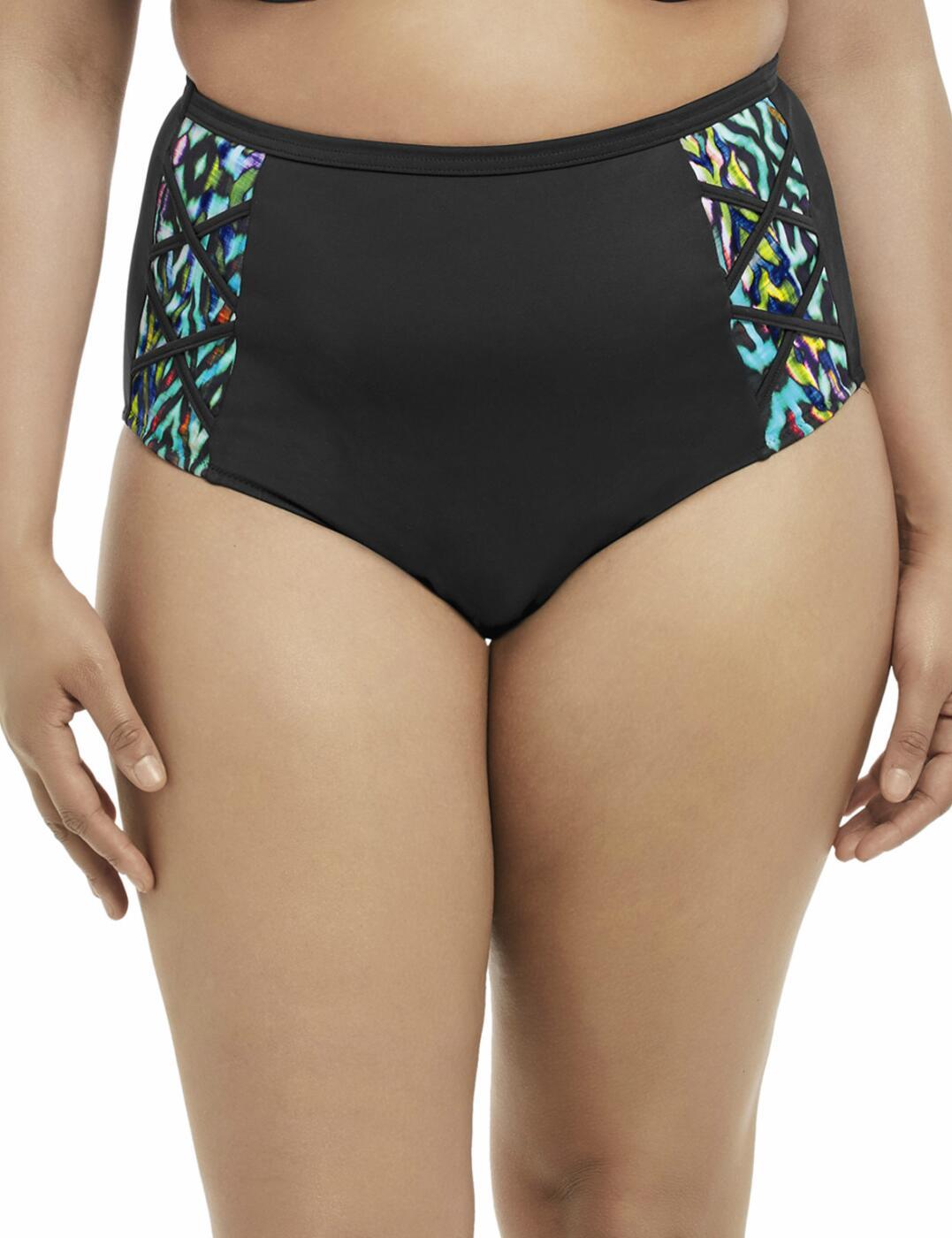 7113 Elomi Tribal Instinct Classic Bikini Brief Black - 7113 Bikini Brief