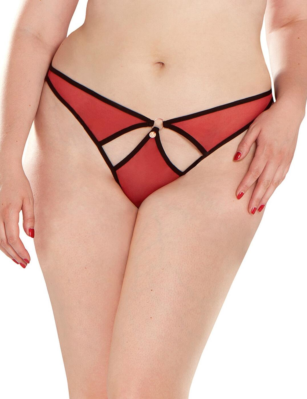 ST3302 Scantilly by Curvy Kate Knock Out Thong - ST3302 Red