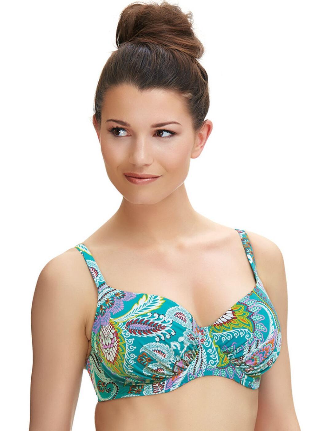 6265 Fantasie Viana Gathered Full Cup Bikini Top Multi - 6265 Full Cup Bikini Top