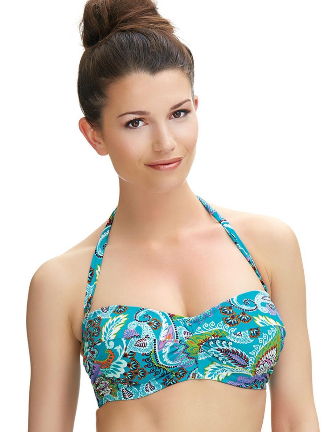 6267 Fantasie Viana Twist Bandeau Bikini Top Multi - 6267 Twist Bandeau
