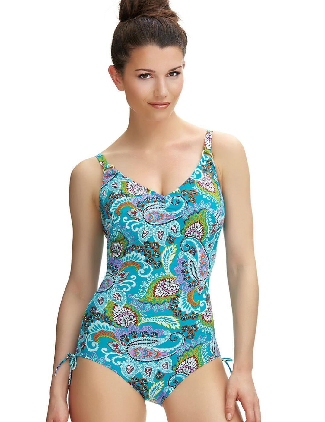 6272 Fantasie Viana V-Neck Swimsuit Multi - 6272 Swimsuit