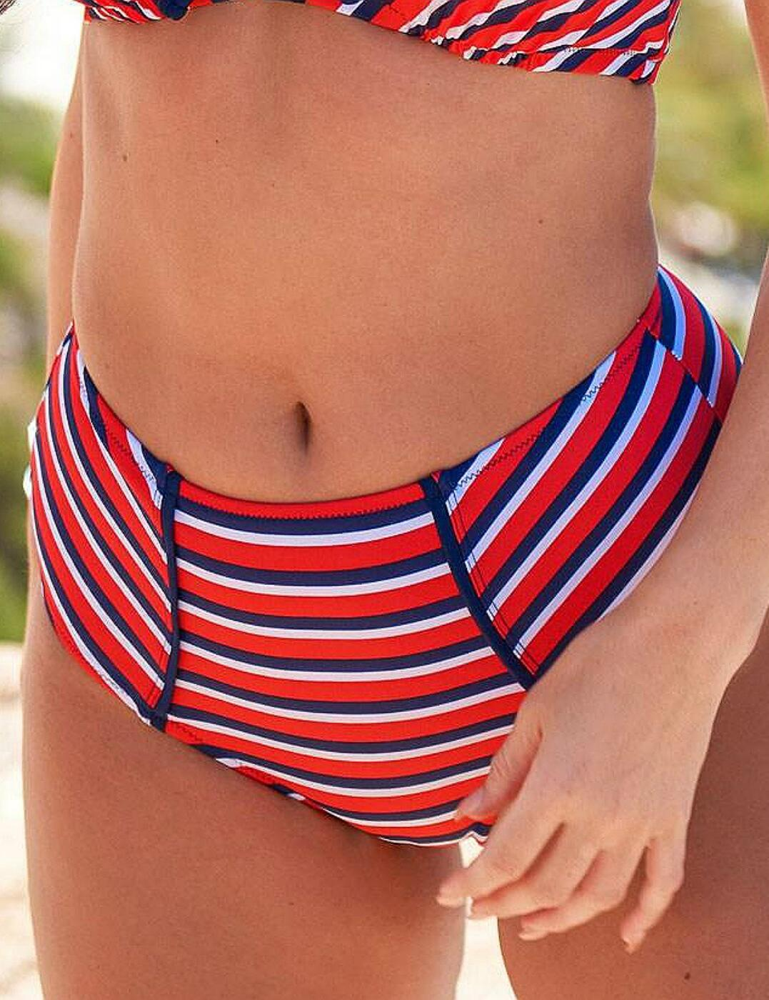 85005 Pour Moi? Hamptons Deep Bikini Brief - 85005 Multi Stripe