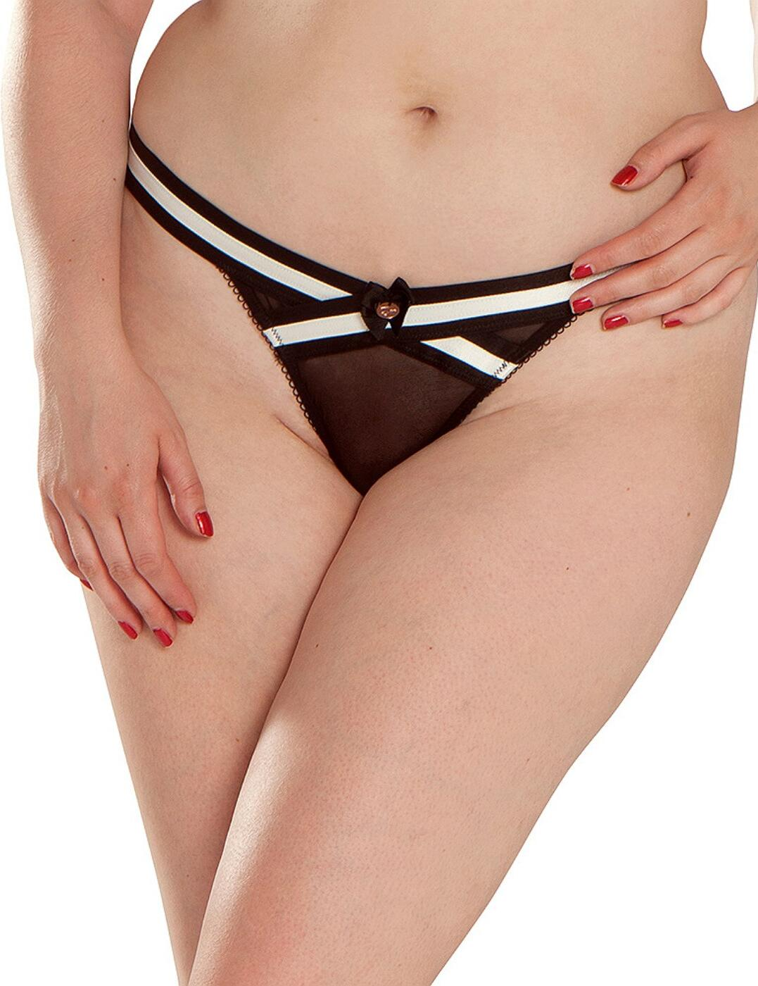 ST4302 Scantilly by Curvy Kate Decadence Thong - ST4302 Monochrome