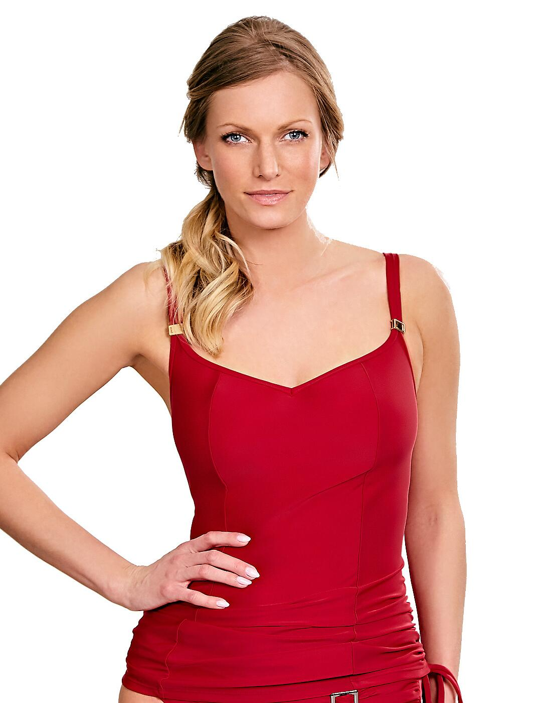 SW0881 Panache Anya Balconnet Tankini Top  - SW0881 Red