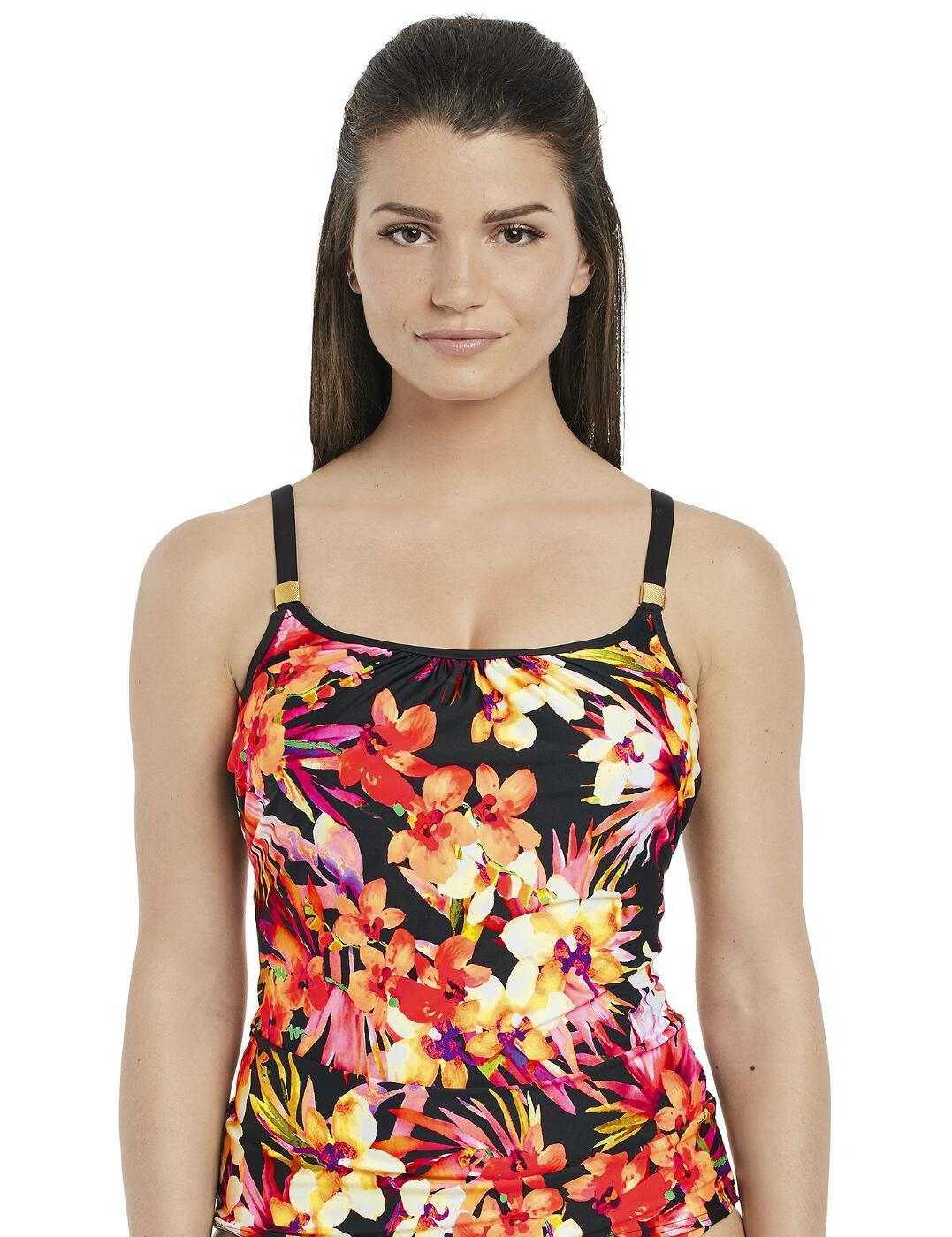 6429 Fantasie Ko Phi Phi Underwired Scoop Neck Tankini Top - 6429 Tropical Print