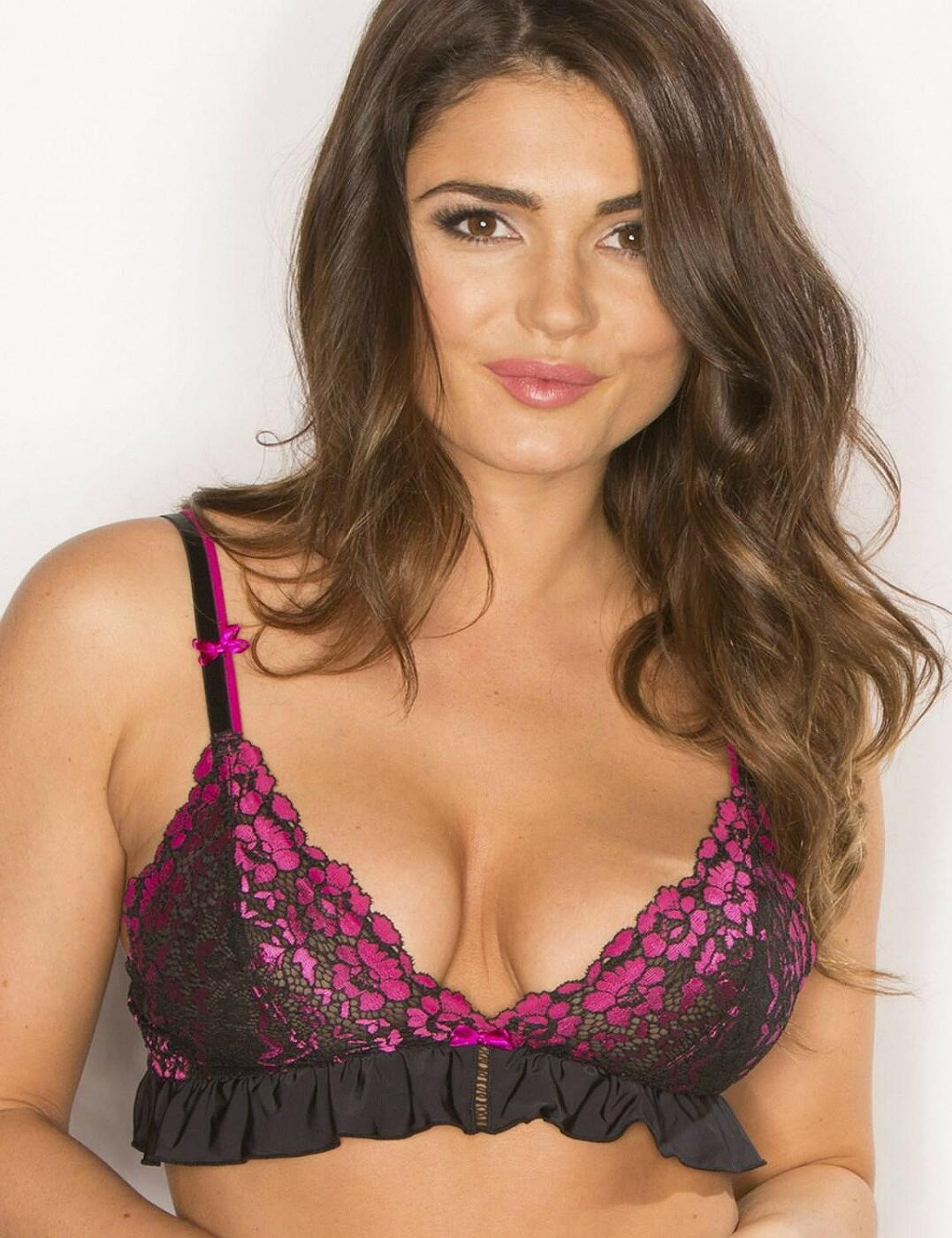 44010 Pour Moi Fever Bralette Bra Top - 44010 Black/Rose