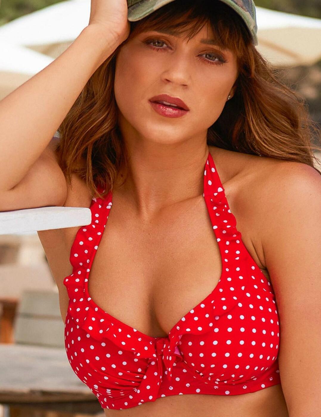 Hot Spots Halter Bikini Top