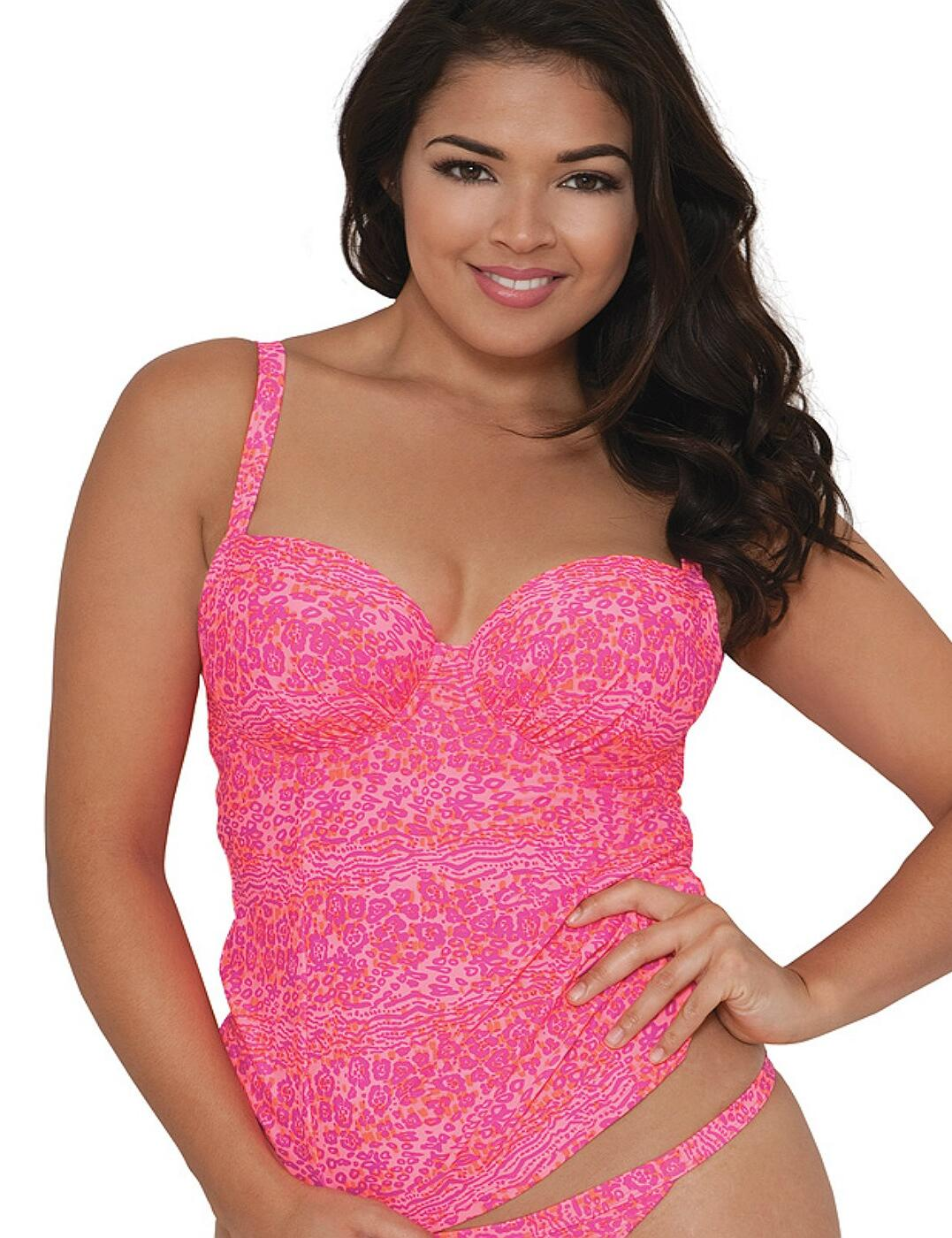 CS3916 Curvy Kate Daze Underwired Balcony Tankini Top - CS3916 Pink Mix