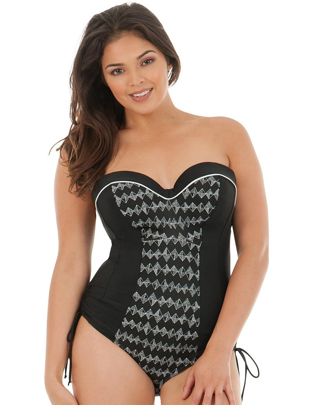 CS4457 Curvy Kate Euphoria Underwired Padded Swimsuit - CS4457 Monochrome