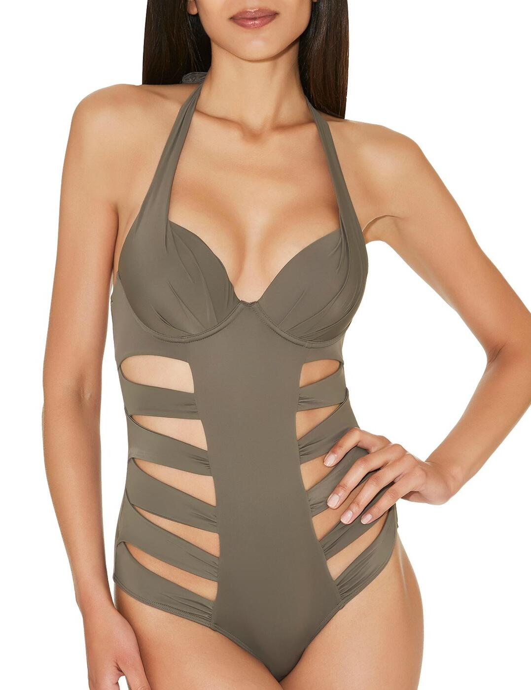 ET57 Aubade Sexy Chill One Piece Swimsuit - ET57 Palm
