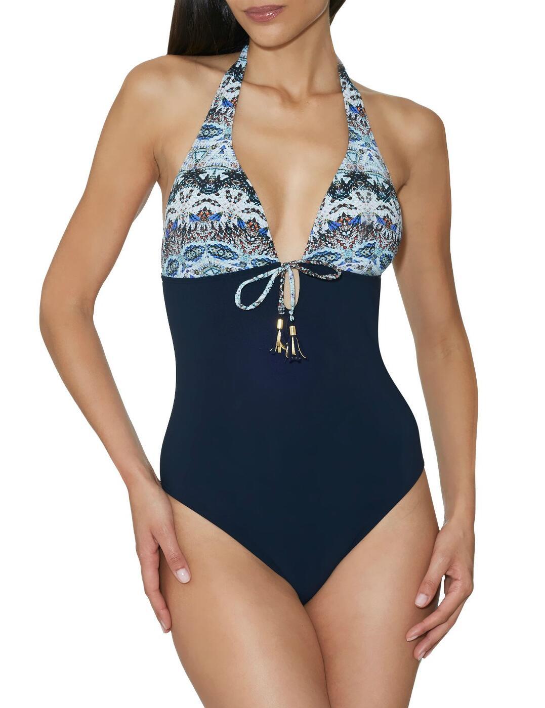 EU67 Aubade Exotic Waves Soft Swimsuit - EU67 Navy
