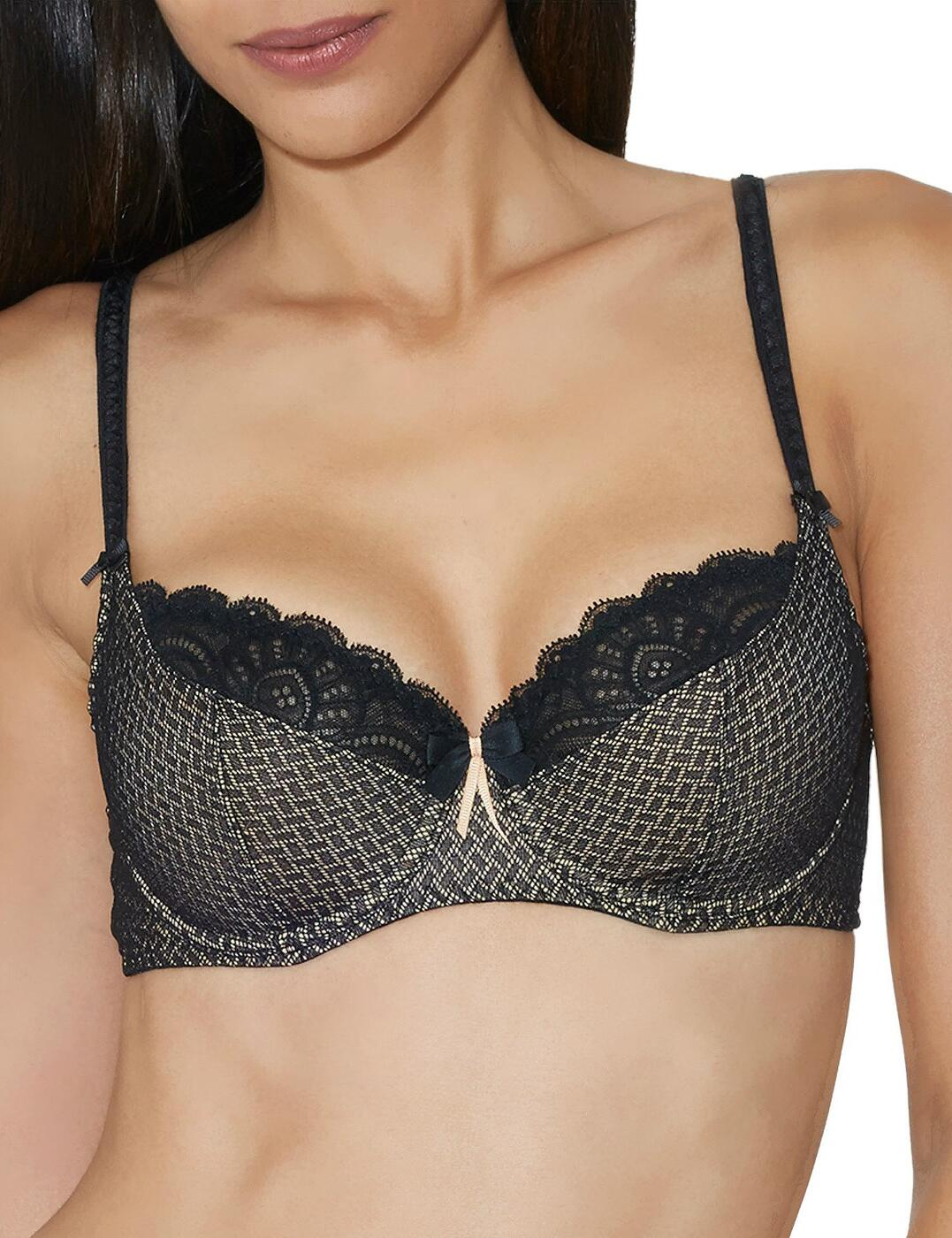 Y615 Aubade Art Of Kissing 3/4 Cup Bra - Y615 Jet Black