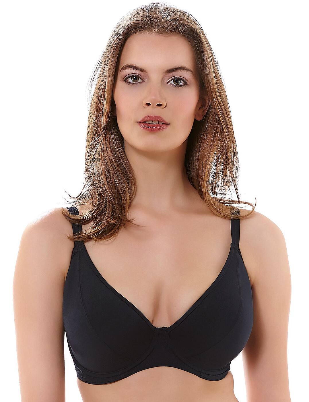 3954 Freya Remix Padded Plunge Bikini Top - 3954 Black