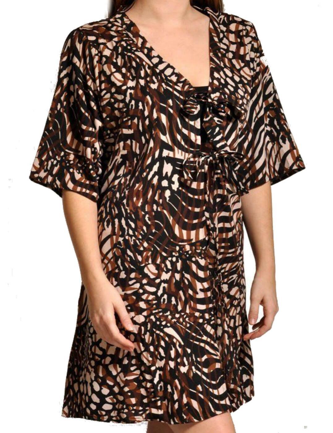 Elomi Swimwear Yarra Kaftan Beach Dress 7713 Java print - 7713 Kaftan